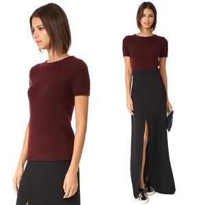 •Theory• Tolleree Cashmere Sweater Top Burgundy